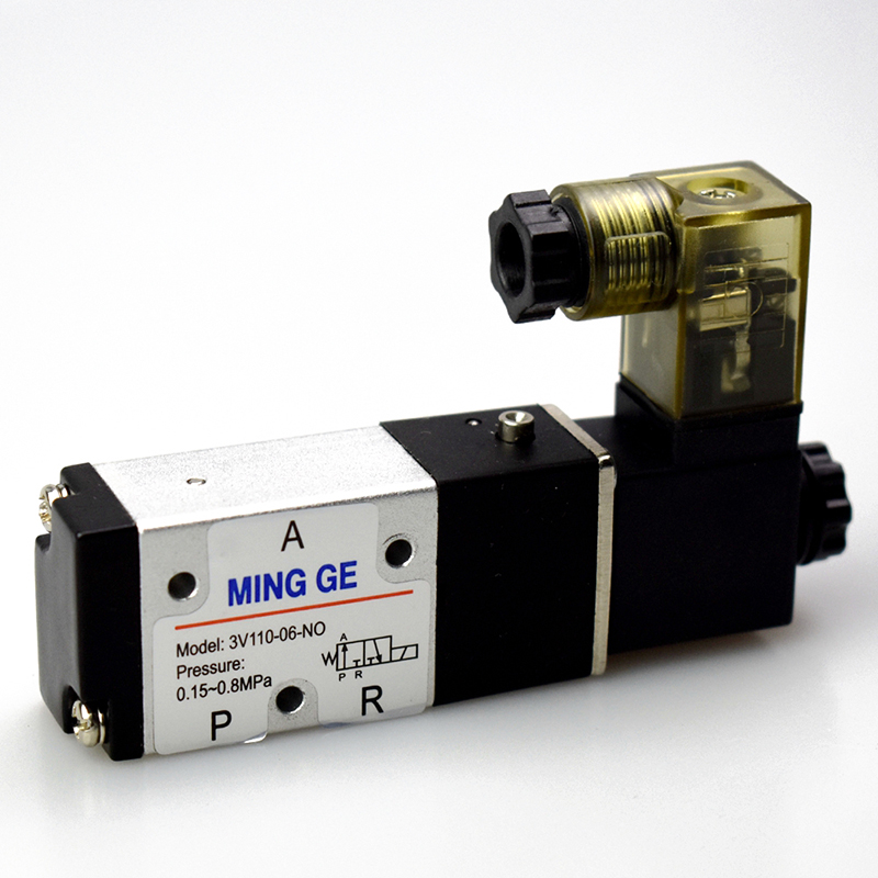 Customized solenoid valve for bottle blowing valve group