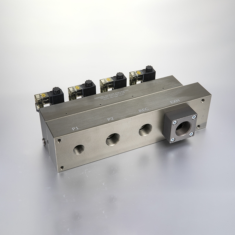 REC. type bottle blowing valve block